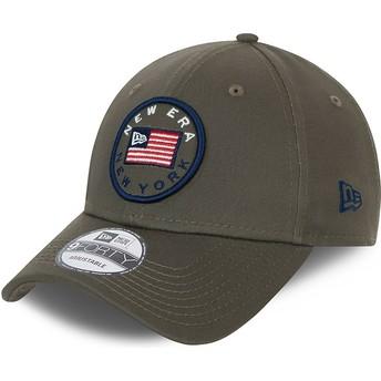Casquette courbée verte ajustable 9FORTY USA Flag New Era