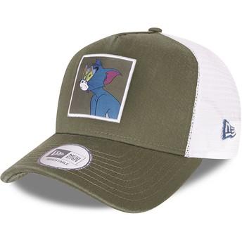 Casquette trucker verte et blanche A Frame Tom et Jerry Looney Tunes New Era