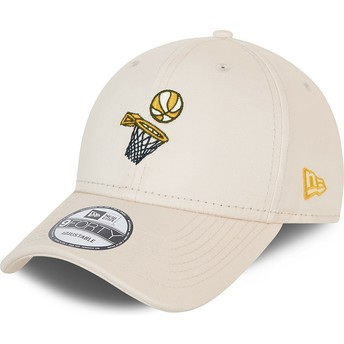 Casquette courbée blanche ajustable 9FORTY Sports Basketball New Era