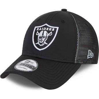 Casquette courbée noire ajustable 9FORTY Mesh Underlay Oakland Raiders NFL New Era