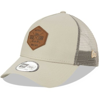 Casquette trucker grise A Frame 9FORTY Heritage Patch New Era