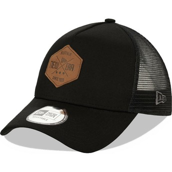 Casquette trucker noire A Frame 9FORTY Heritage Patch New Era