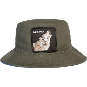 Chapeau seau vert loup Lone Wolf Howl You Doing The Farm Goorin Bros.