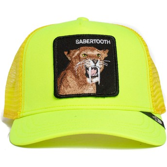 Casquette trucker jaune dents sabre Sabertooth Tootache The Farm Goorin Bros.