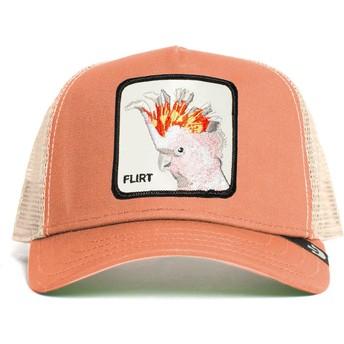 Goorin Bros. Cockatoo Big Flirt The Farm Pink Trucker Hat