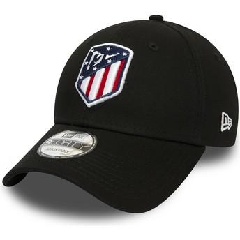 New Era Curved Brim 9FORTY Essential Atlético Madrid LFP Black Adjustable Cap