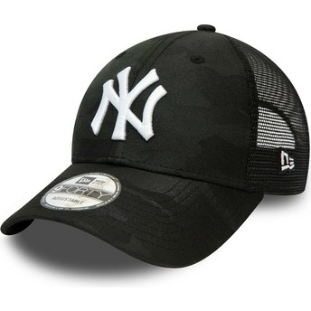 New Era Curved Brim 9FORTY Home Field New York Yankees MLB Camouflage and Black Adjustable Cap