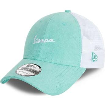 New Era Suede A Frame Vespa Piaggio Blue Trucker Hat