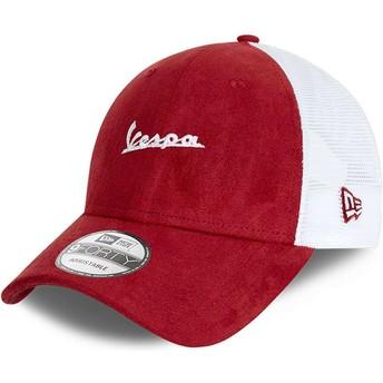 New Era Suede A Frame Vespa Piaggio Red Trucker Hat