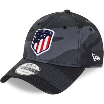 New Era Curved Brim 9FORTY Atlético Madrid LFP Camouflage and Black Adjustable Cap