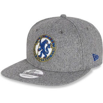 Casquette plate grise snapback 9FIFTY Low Profile Heritage Chelsea Football Club New Era