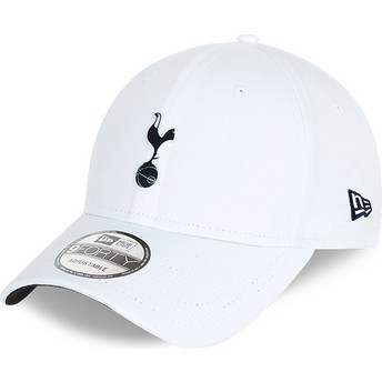 Casquette courbée blanche ajustable 9FORTY Rubber Patch Tottenham Hotspur Football Club New Era