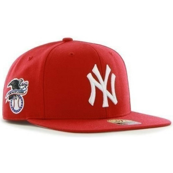 casquette-plate-rouge-snapback-new-york-yankees-mlb-sure-shot-47-brand