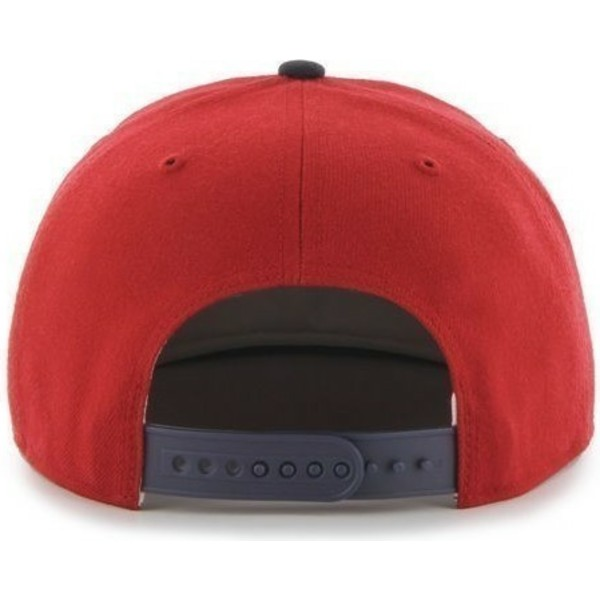 casquette-plate-rouge-snapback-boston-red-sox-mlb-sure-shot-47-brand