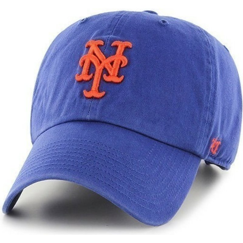 casquette-courbee-bleue-new-york-mets-mlb-clean-up-47-brand