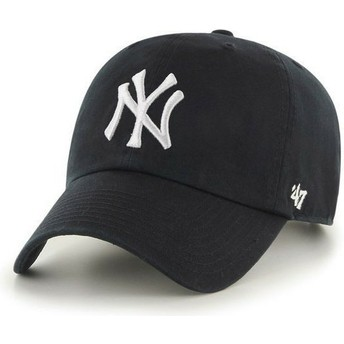 Casquette courbée noire New York Yankees MLB Clean Up 47 Brand