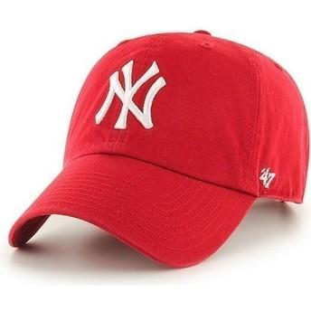 47 Brand Curved Brim New York Yankees MLB Clean Up Cap rot