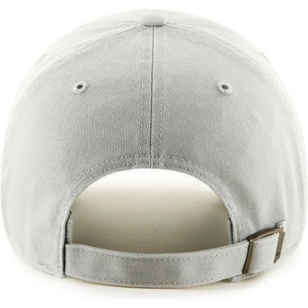 casquette-courbee-gris-clair-avec-logo-gris-new-york-yankees-mlb-clean-up-47-brand