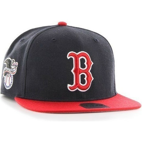 casquette-plate-bleue-marine-snapback-mlb-boston-red-sox-47-brand