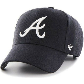 47 Brand Curved Brim MLB Atlanta Braves Smooth Cap marineblau