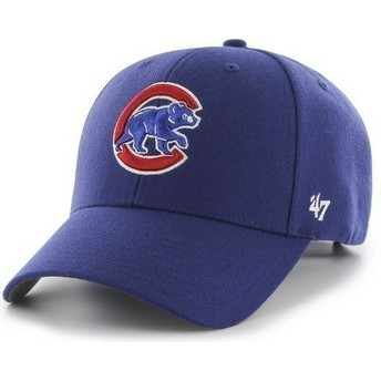 Casquette à visière courbée bleue unie MLB Chicago Cubs 47 Brand