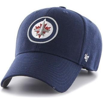 47 Brand Curved Brim NHL Winnipeg Jets Cap marineblau