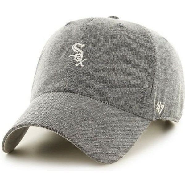 casquette-a-visiere-courbee-grise-avec-petit-logo-mlb-chicago-white-sox-47-brand