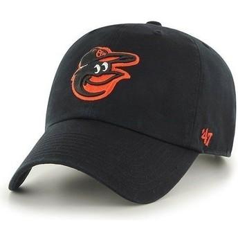 47 Brand Curved Brim Vorderes Logo MLB Baltimore Orioles Cap schwarz
