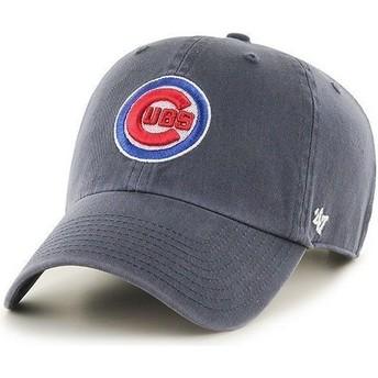 Casquette à visière courbée bleue marine avec logo frontal MLB Chicago Cubs 47 Brand