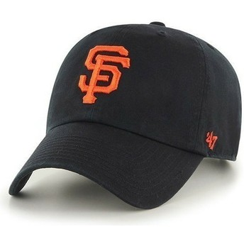 47 Brand Curved Brim Großes Vorderes Logo MLB San Francisco Giants Cap schwarz