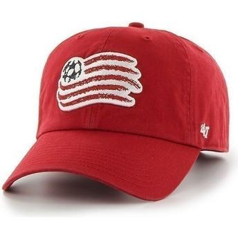 Casquette à visière courbée rouge avec grand logo frontal New England Revolution FC 47 Brand