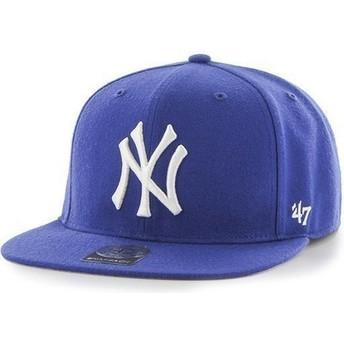 47 Brand Kinder Flat Brim New York Yankees MLB Snapback Cap blau