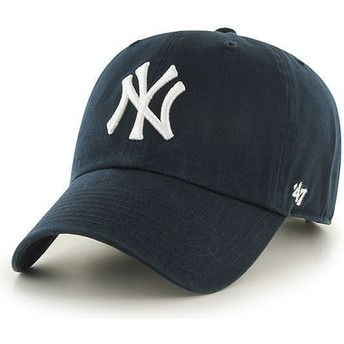 47 Brand Curved Brim New York Yankees MLB Clean Up Cap marineblau