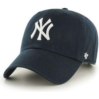 Casquette courbée bleue marine New York Yankees MLB Clean Up 47 Brand