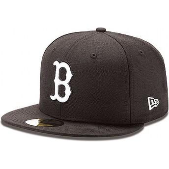 New Era Flat Brim 59FIFTY Essential Boston Red Sox MLB Fitted Cap schwarz