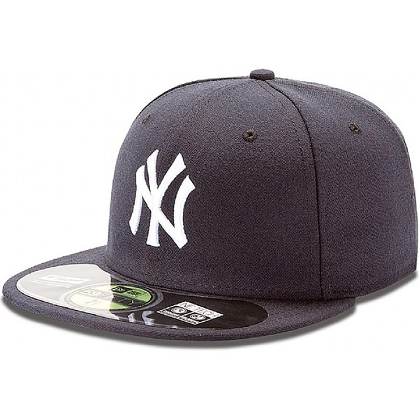 casquette-plate-bleue-marine-ajustee-59fifty-authentic-on-field-new-york-yankees-mlb-new-era