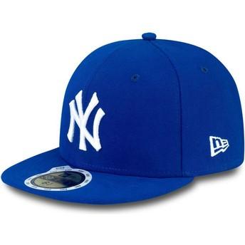 New Era Kinder Flat Brim 59FIFTY Essential New York Yankees MLB Fitted Cap blau