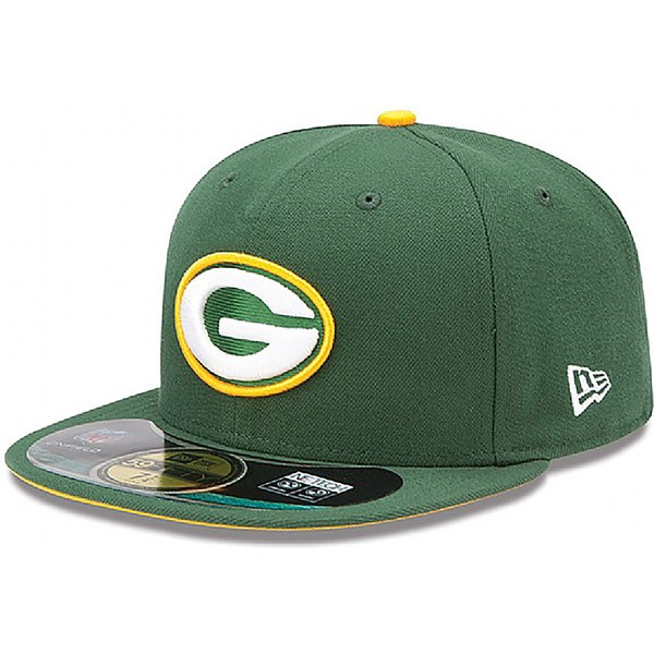 casquette-plate-verte-ajustee-59fifty-authentic-on-field-game-green-bay-packers-nfl-new-era