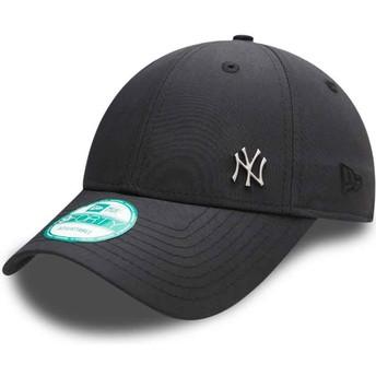 New Era Curved Brim 9FORTY Flawless Logo New York Yankees MLB Adjustable Cap schwarz