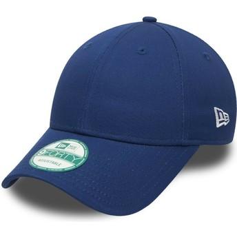 New Era Curved Brim 9FORTY Basic Flag Adjustable Cap blau