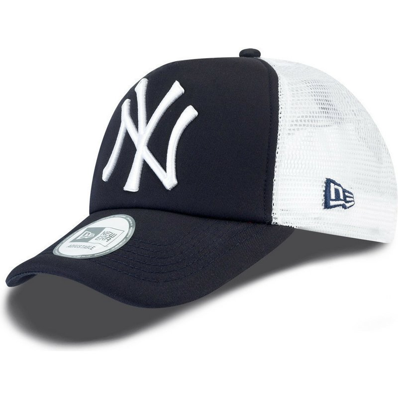 casquette-trucker-bleue-marine-clean-a-frame-new-york-yankees-mlb-new-era