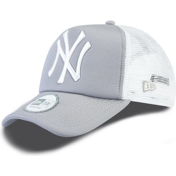 New Era Clean A Frame New York Yankees MLB Trucker Cap grau