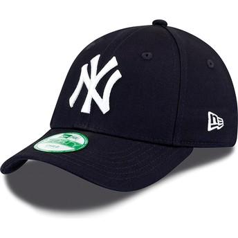 Cappellino visiera curva blu marino regolabile per bambino 9FORTY Essential di New York Yankees MLB di New Era