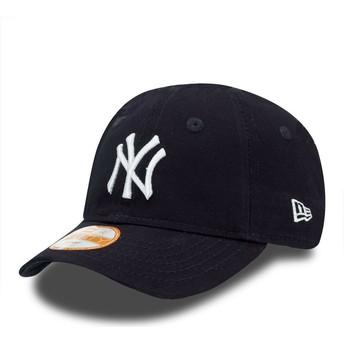 New Era Kinder Curved Brim 9FORTY Essential New York Yankees MLB Adjustable Cap blau